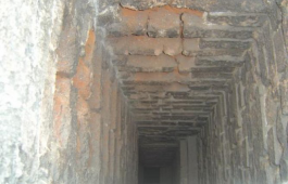 Chimney Flue Inspection Image Showing Spoiled Bricks