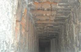 Chimney Flue Inspection Image Showing Spoiled Bricks