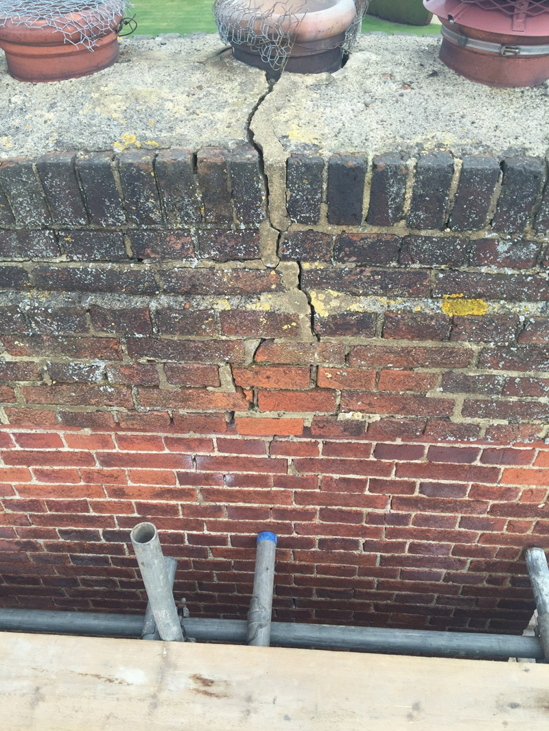 how to build a brick chimney stack