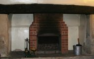 Thatched Property Chimney Before