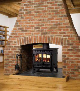 Herald 6 Double Sided Double Depth wood burning stove