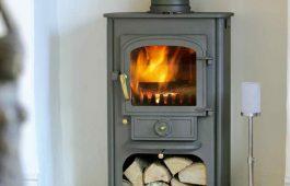 wood burning stove installation bath