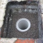 liner surrounded with leca clay pellets Fareham