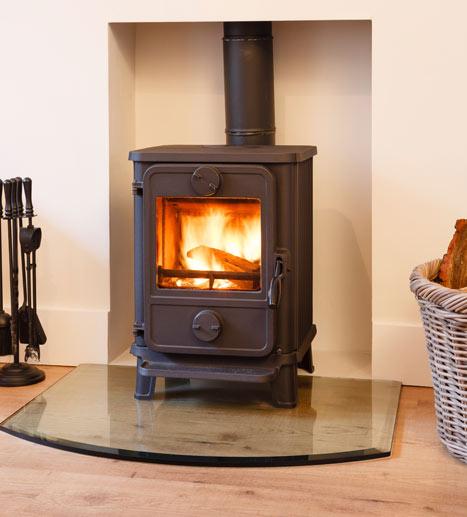 wood burning stove install Fareham